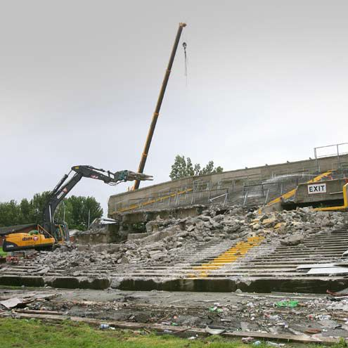 Farewell To Lansdowne Road As Demolition Begins