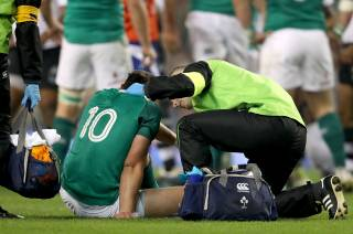 Joey Carbery receives treatment
