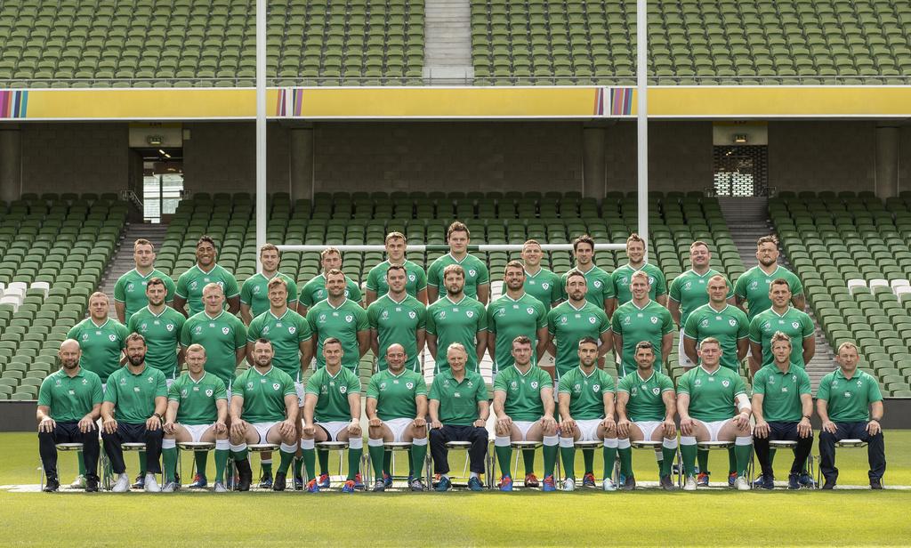 Ireland Rugby World Cup Squad Photograph, Aviva Stadium, Dublin 6/9/2019 Mandatory Credit ©INPHO/Billy Stickland