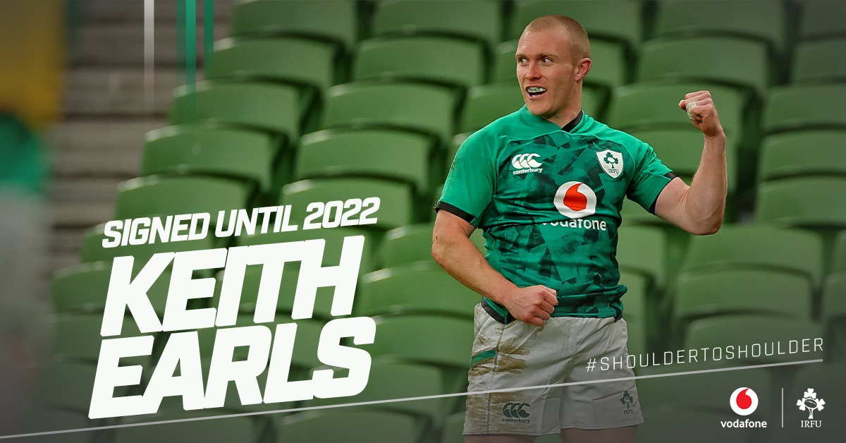 Keith Earls Signs IRFU Contract Extension