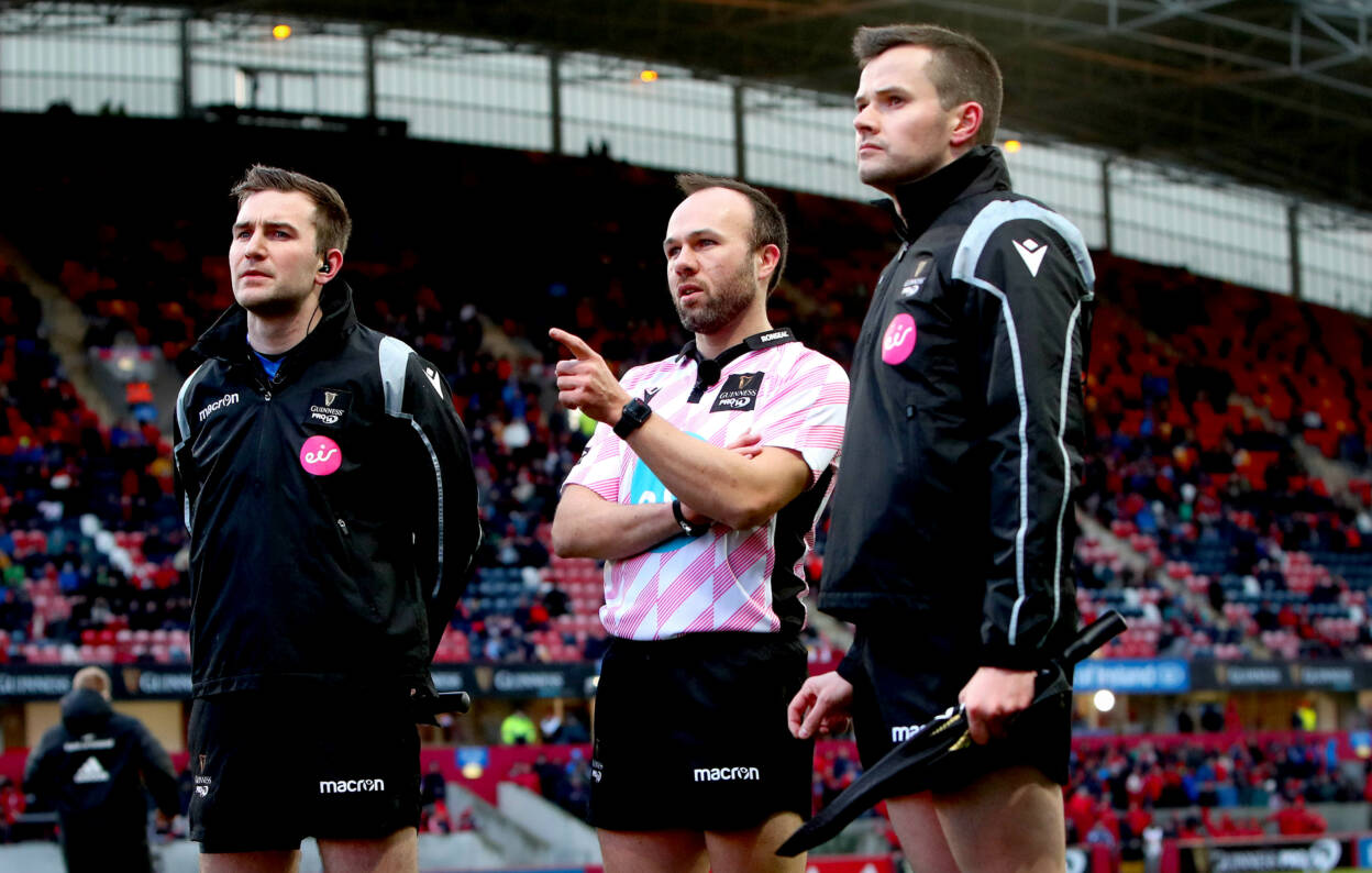 IRFU Referees Team Up With Scotland's Adamson For PRO14 Final