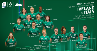 Griggs Names Ireland Team To Face Italy In Women's Six Nations