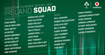 Ireland Squad Confirmed For Vodafone Summer Series
