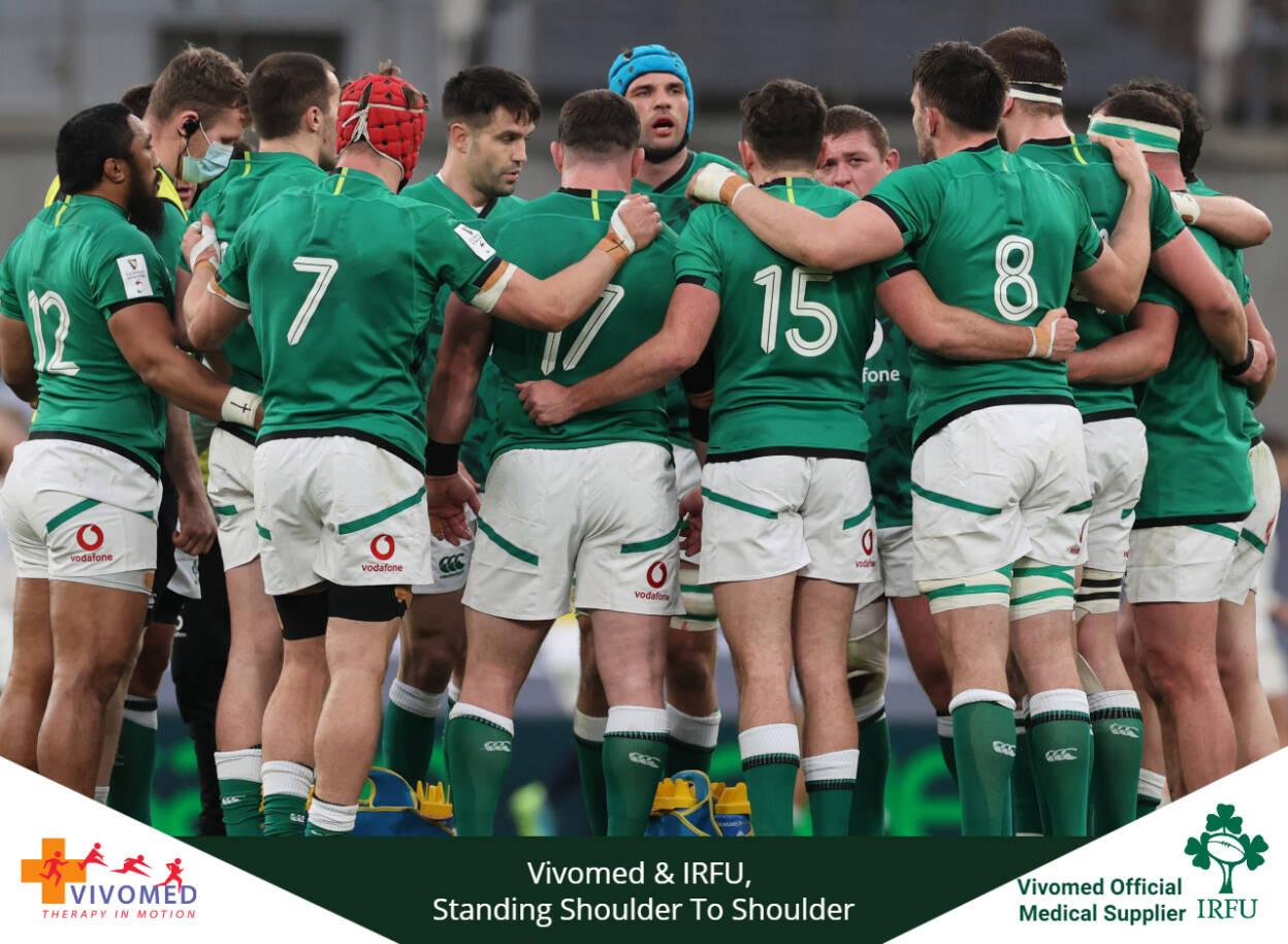 Vivomed Renews Partnership with Irish Rugby Football Union