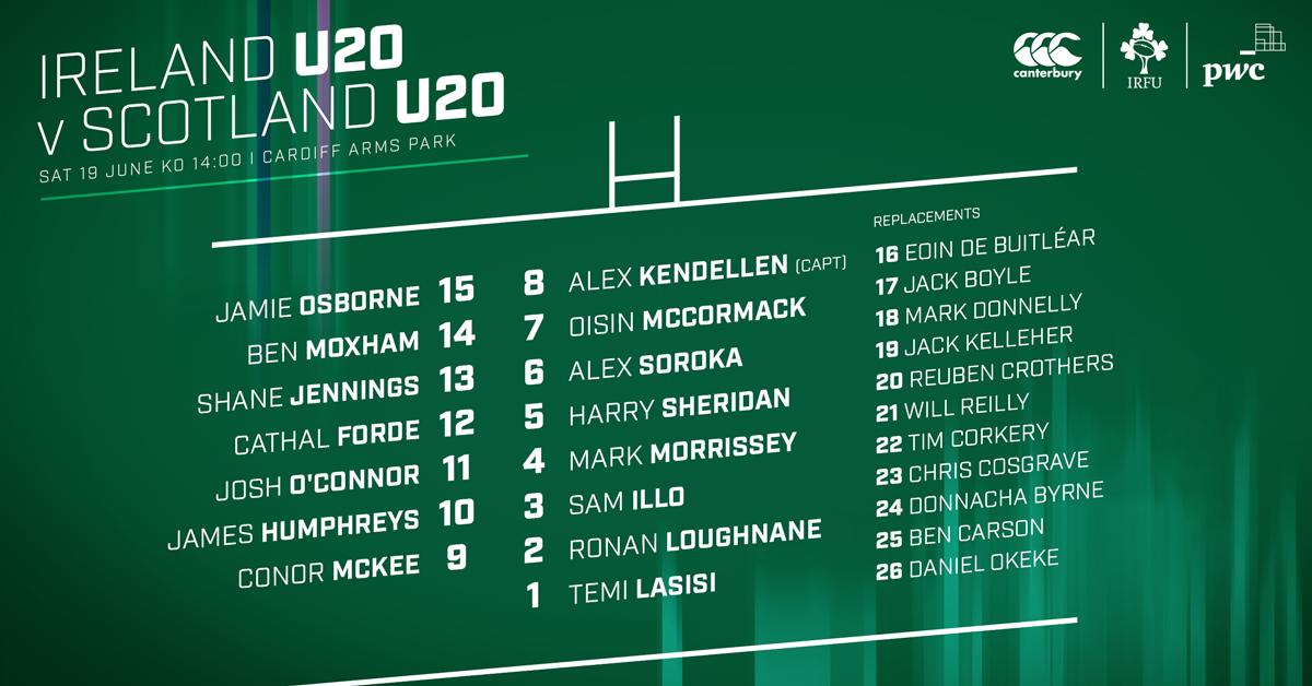 Murphy Names Ireland Team For U-20 Six Nations Opener
