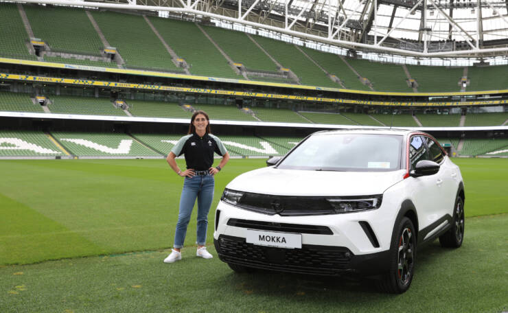 Amee Leight Murphy Crowe with her new Opel Mokka